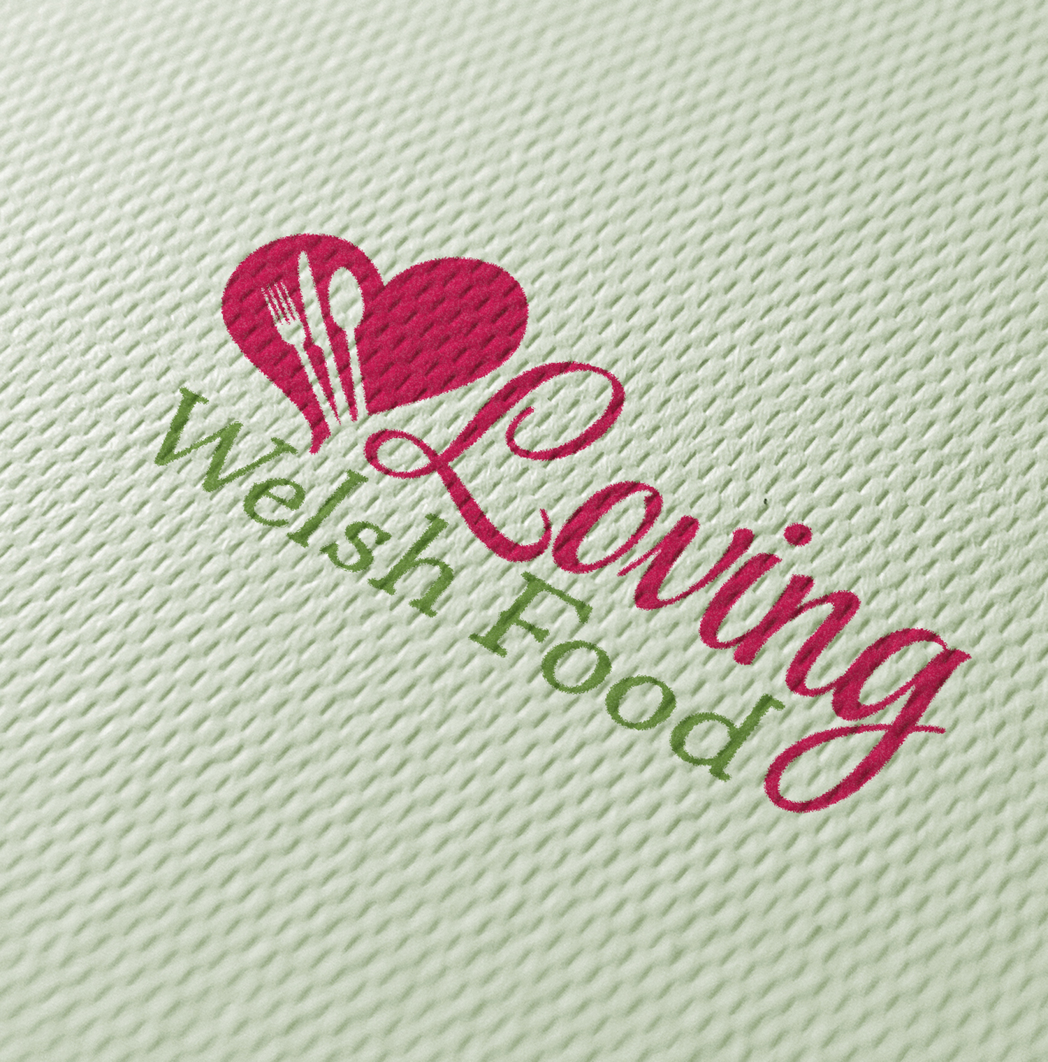 Loving Welsh Food logo texture 720