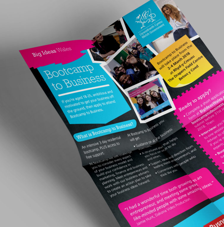 Big Ideas Wales Bootcamp leaflet 1184x1200