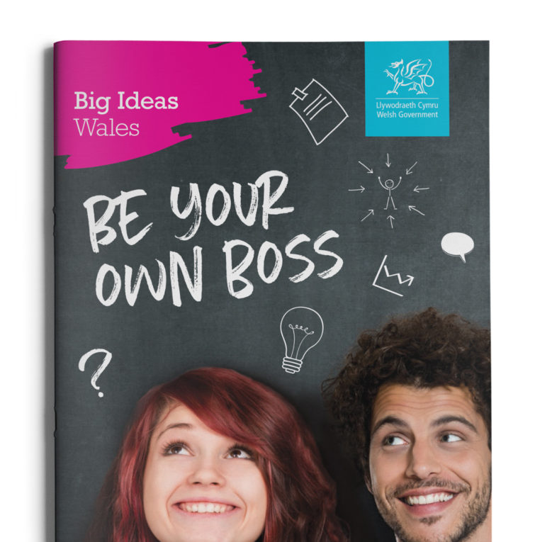Big Ideas Wales Young Person brochure 1 cover